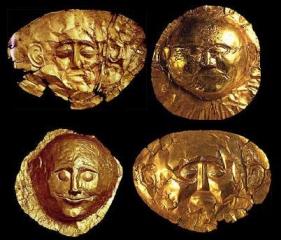 Máscaras funerarias Foto: pobladores