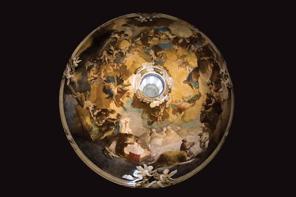 Cúpula de Goya pintada por Francisco de Goya en la Basílica del Pilar de Zaragoza