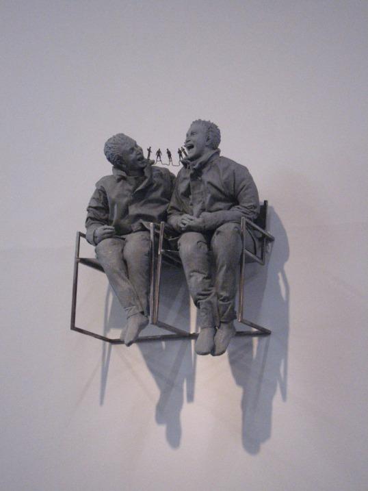 """Juan muñoz en la exposición """"El factor grotesco"""""""