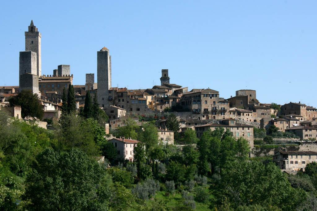 Ciudad medieval de San Gimignano en la Toscana Italiana, entre Siena y Florencia