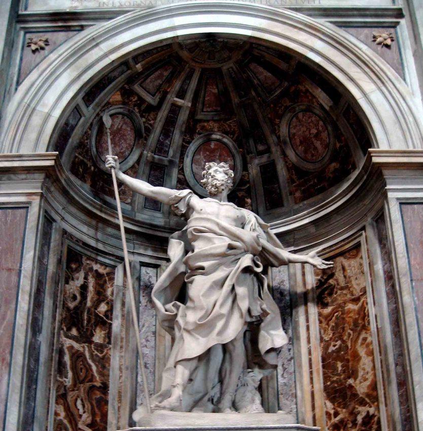 Escultura de San Longinos en San Pedro del Vaticano