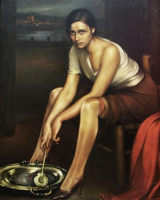 cuadro pintado por Julio Romero de Torres