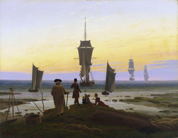 cuadro las etapas de la vida de Caspar David Friedrich