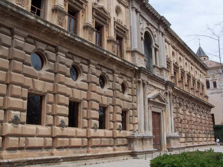 Palacio de Carlos V en la Alhambra de Granada