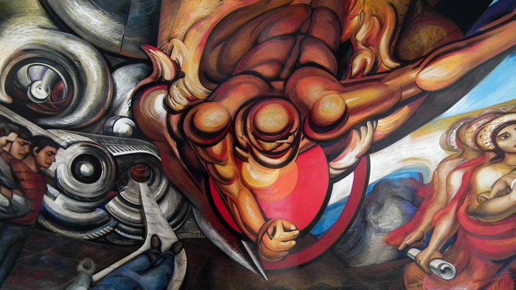Siqueiros, México, arte, pintura mural, tuitearte