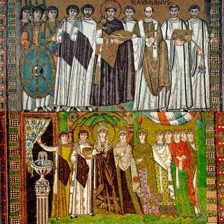 arte, historia del arte, mosaico, tesela, arte bizantino, Justiniano,
