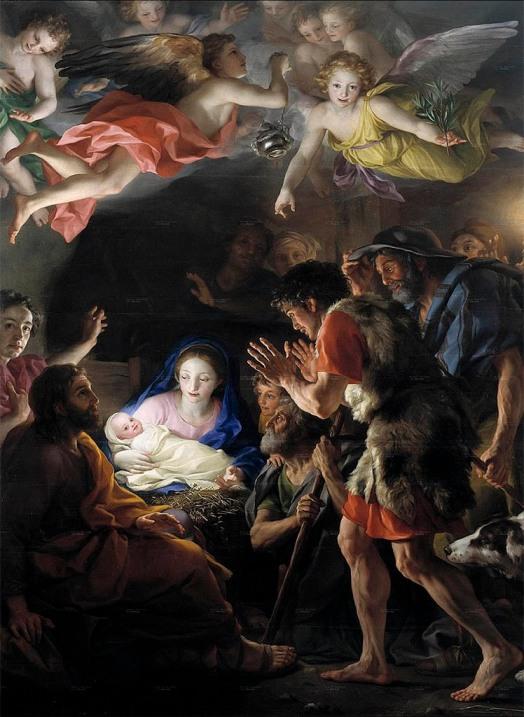 Anton Rafael Mengs, arte, pintura, cuadro, museo del Prado, Luz, Autorretrato, tuitearte, historia del arte, nacimiento, navidad, Belén, niño Jesús, ángeles