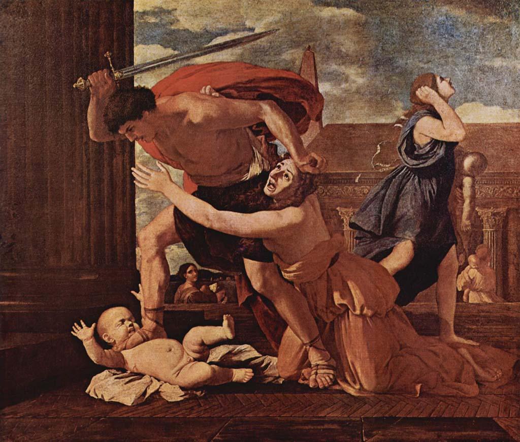 nicolas poussin, arte, pintura, cuadro, tuitearte, historia del arte, clasicismo, santos inocentes, matanza, inocentada