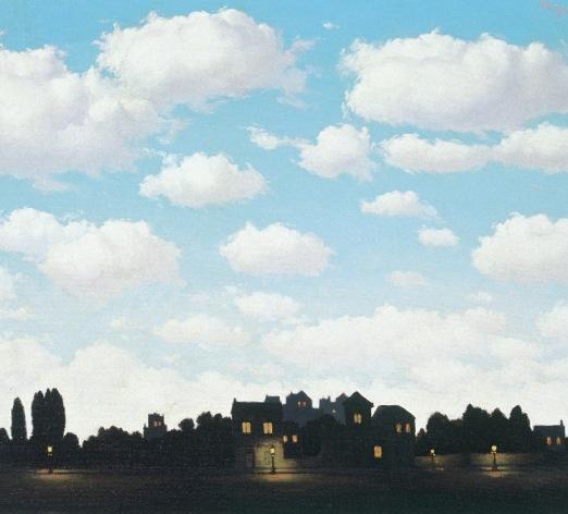 René magritte, arte, pintura, cuadro, tuitearte, historia del arte, surrealismo, paisaje nocturno