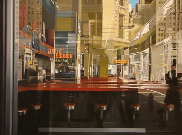 arte. historia del arte. cuadro, pintura, fotorrealismo, hiperrealismo, nueva york, reflejos