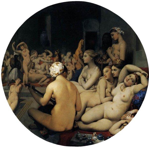 Arte, historia del arte, romanticismo, Ingres, Desnudas