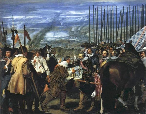 Arte, historia del arte, pintura, la rendición de Breda, las lanzas, vleázquez
