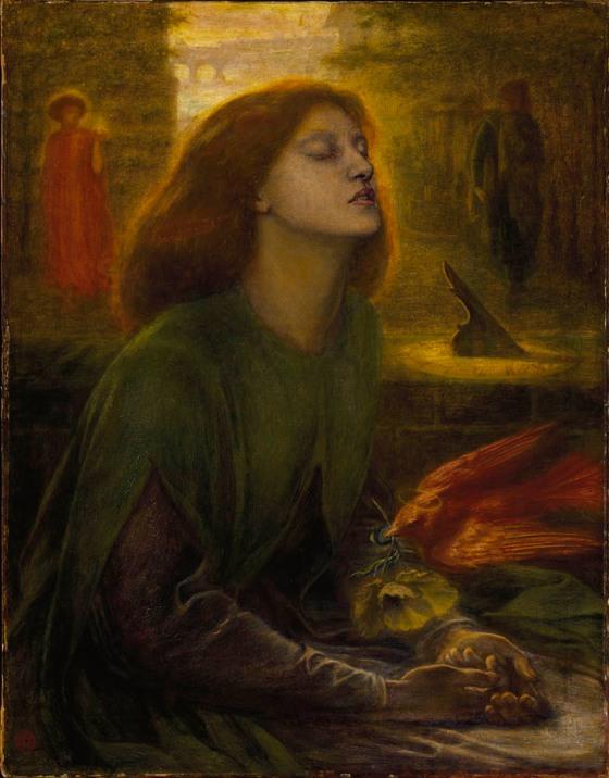 Beata Beatrix de Dante Gabriel Rossetti