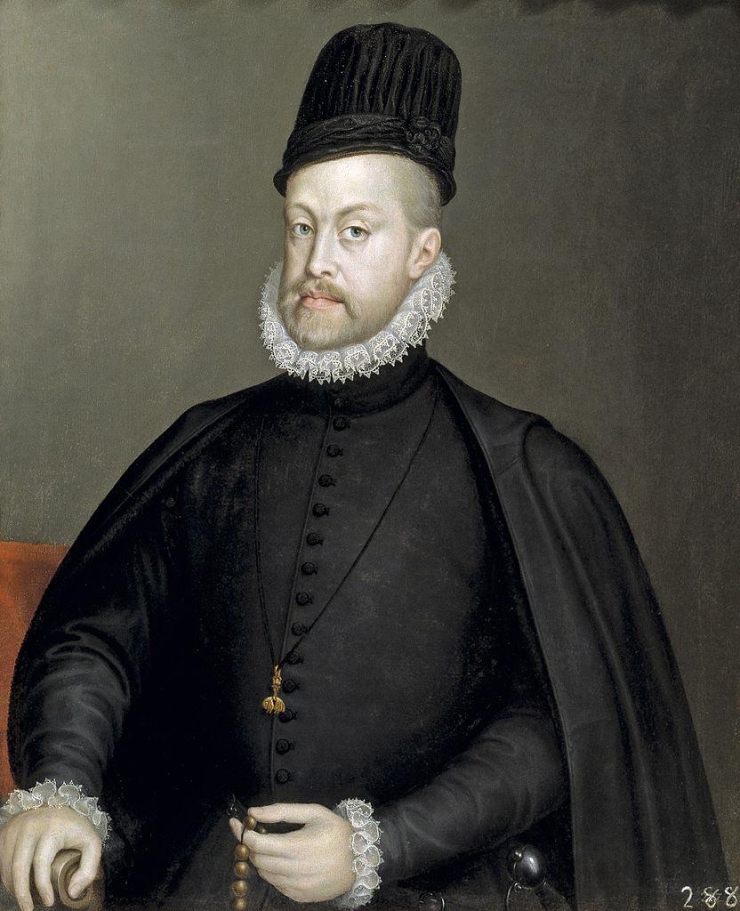 Retrato de Felipe II de Alonso sánchez Coello