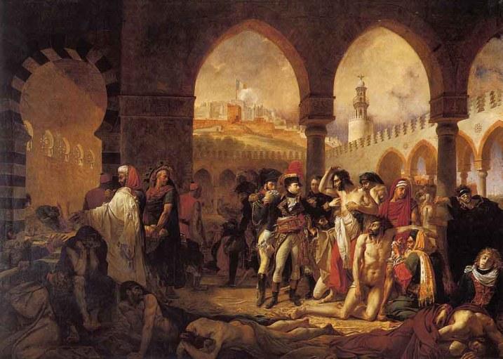 Bonaparte visitando a los apestados de Jaffa