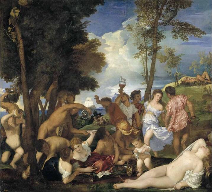 La bacanal de Tiziano