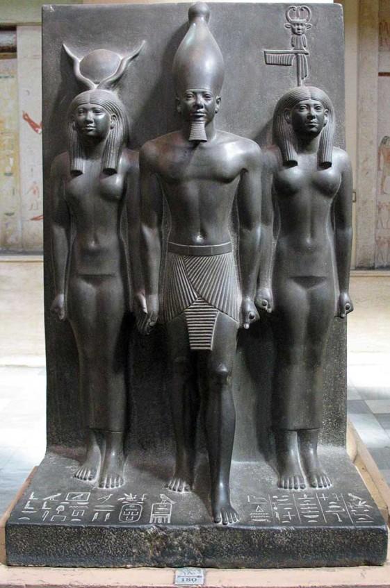 Pharaoh Menhaure triad