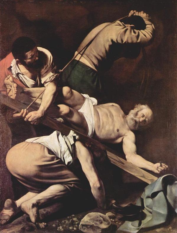 San Pedro crucificado de la capilla Cerasi