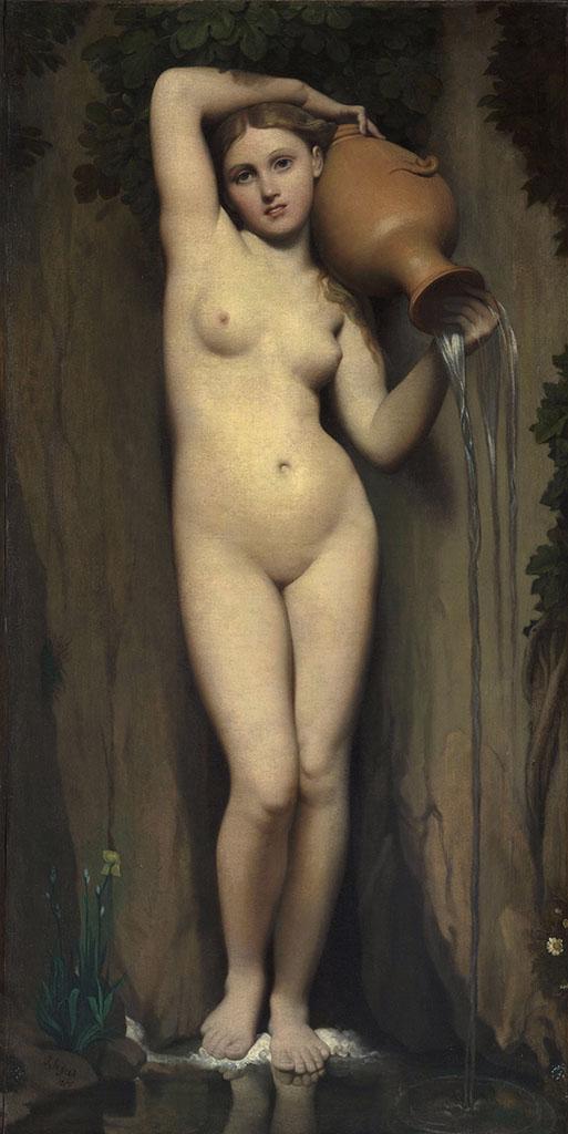 El manantial es una de las obras maestras del neoclasicismo y del pintor francés Ingres