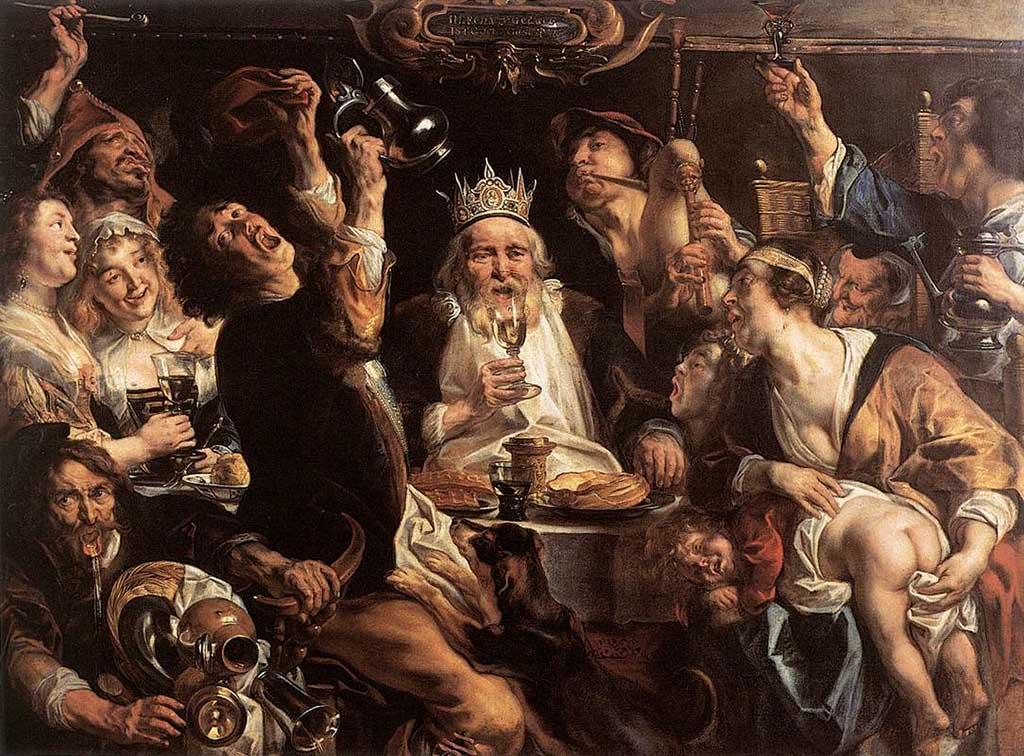 Resultado de imagen de rey comiendo cuadro