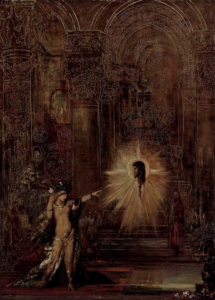 Cuadro del pintor simbolista Gustave moreau en el que representa al personaje bíblico Salomé