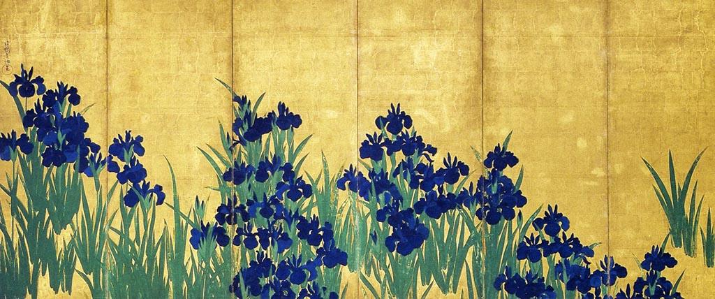 Lirios de Ogata Korin es una de las mejores obras de Ogata Korin, el pintor japonés del periodo Rinpa