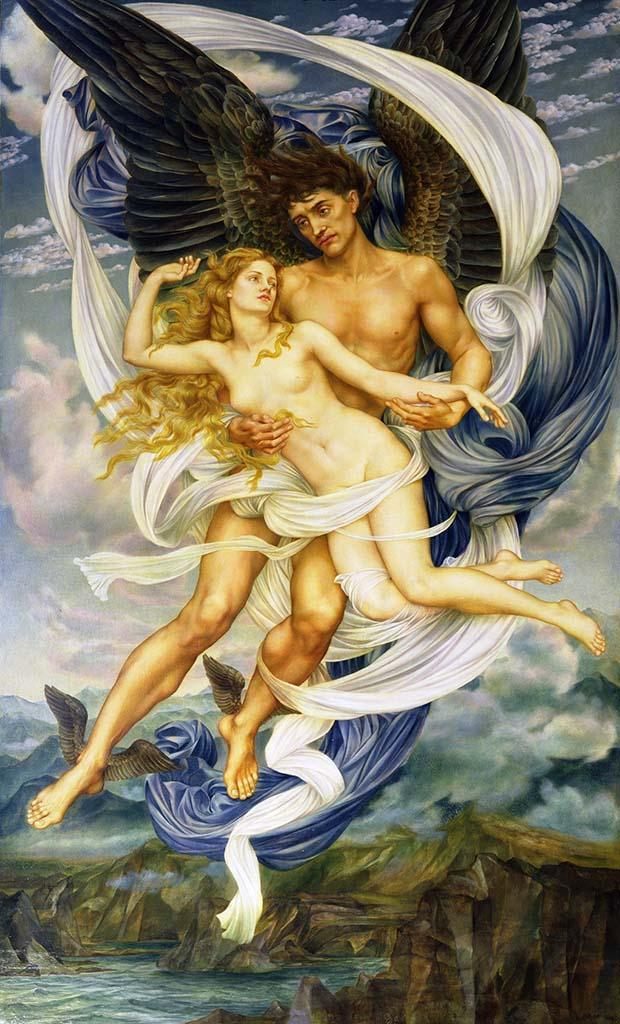 Evelyn de Morgan es una pintora prerrafaelita que pintaba temas mitológicos