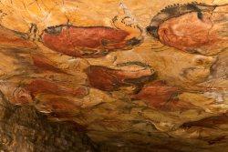 Sala de los polícromos de la cueva de Altamira