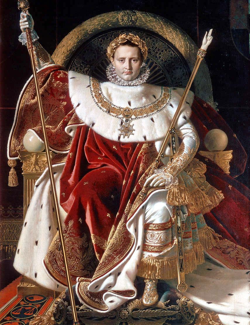 Napoleón entronizado de Ingres